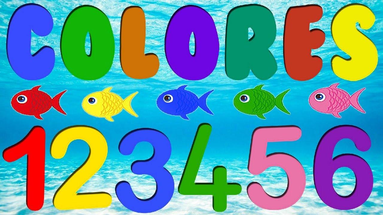 Los números y colores para niños - YouTube