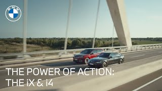 homepage tile video photo for The Power of Action: Meet The First-Ever BMW iX & BMW i4   BMW USA
