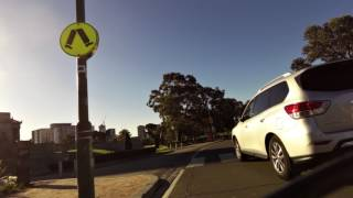 Melbourne Unedited raw footage of random ride from Botanical Gardens to NGV