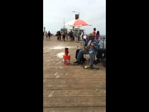 Santa Monica Pier watching the talent