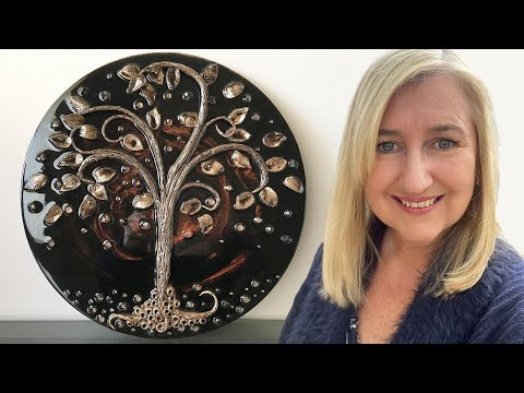 How to add dimension to your resin art using Air Dry Clay