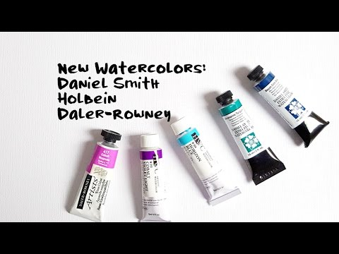 New Watercolors! And My Version Of A Mixing Chart ;)