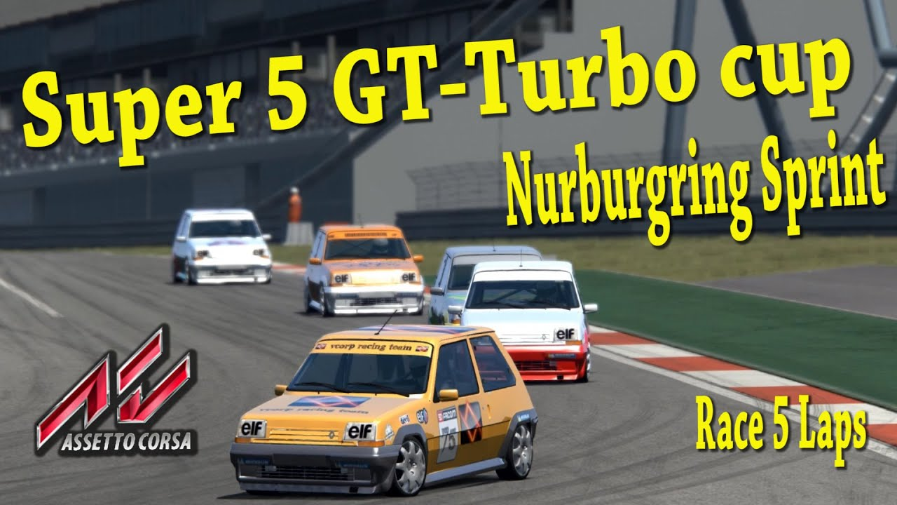 renault super 5 gt turbo cup assetto corsa youtube. Black Bedroom Furniture Sets. Home Design Ideas