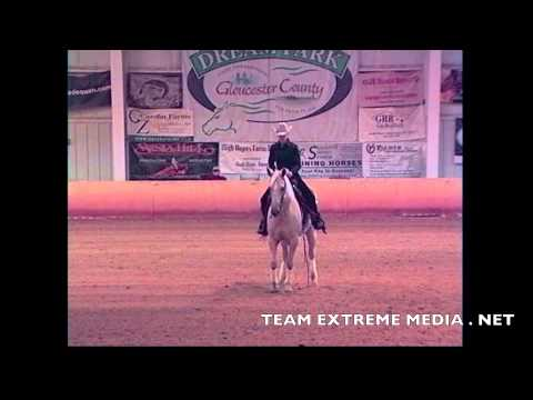 BLONDE LIL CHARMER AND VICTORIA CARROLL AT THE 2014 REINING THUNDER AFFILIATE FINALS