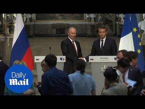 Macron attacks Russian media as Putin denies election meddling - Daily Mail