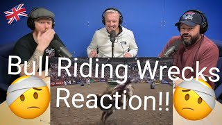 BRITS REACT TO TOP BULL RIDING WRECKS COMPILATION!! | OFFICE BLOKES REACT!!