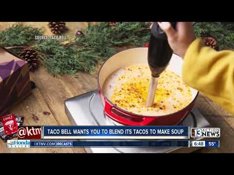 Katie Sommers Radio Network - Taco Bell Recommends Blending Its Tacos Into A Soup For Thanksgiving Dinner