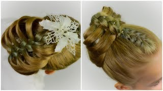 ❄NEW YEAR 2018❄ TWO INCREDIBLY BEAUTIFUL and STYLISH hairstyles in 5 minutes! Party hairstyle #14