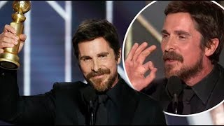 HOLLYWOOD DEMONS! CHRISTIAN BALE THANKS SATAN AT 2019 GOLDEN GLOBES...
