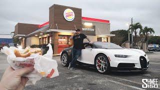Burger King DRIVE THRU with a BUGATTI CHIRON!