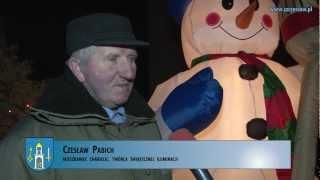 Świąteczna iluminacja w Chabielicach (gmina Szczerców)