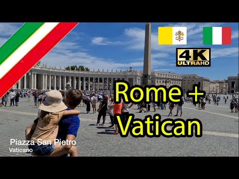 Vatican and Rome 4k TRAVEL TOUR July 2020 Post Lockdown Italy 🇮🇹