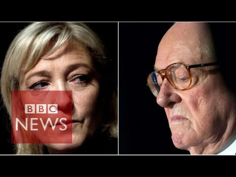 France: Le Pen suspended from Front National party by daughter - BBC News