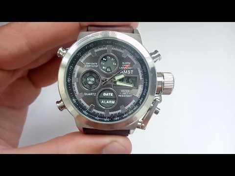 Мужские армейские часы АМСТ AMST 3003 оригинал инструкция на русском, настройка, отзывы, цена
