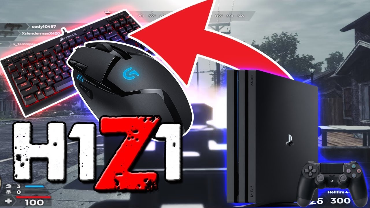 H1Z1 PS4 GAMEPLAY WITH KEYBOARD AND MOUSE!! FIRST EVER!! (EXTREMELY  OVERPOWERED!!!)