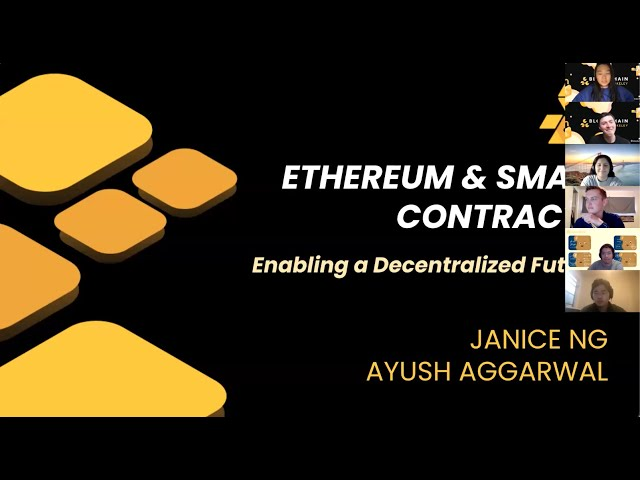 Lecture 7: Ethereum and Smart Contracts: Enabling a Decentralized Future