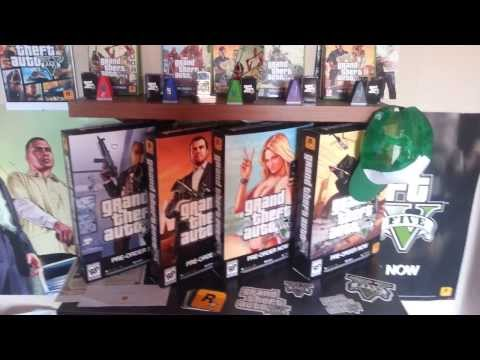 Big GTA V Collection! Pre-Order Stuff and Game Merchandise RARE GTA 5