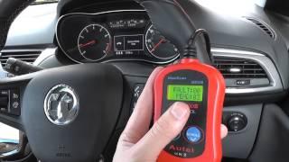 Autel MS300 Vauxhall Opel Corsa E Service Engine Soon Message P0102 P0113