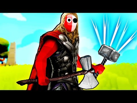 TABS - Thor with Mjolnir and Stormbreaker vs Other Units in Totally Accurate Battle Simulator!