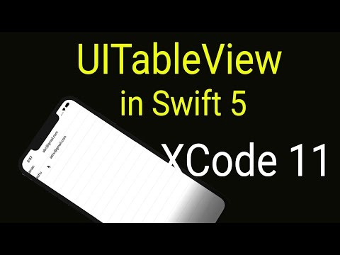 Swift UITableView Tutorial with Custom Cells : For Beginners thumbnail