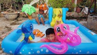 Trò Chơi Phao Hơi Sinh Vật Dưới Biển ❤ ChiChi ToysReview TV ❤ Đồ Chơi Trẻ Em Baby Fun Kids Songs
