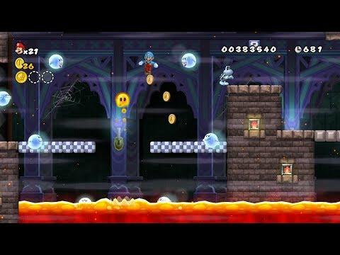 New Super Mario Bros. Wii HACK Ghostly Super Ghost Boos #2 PLAYTHROUGH 100%