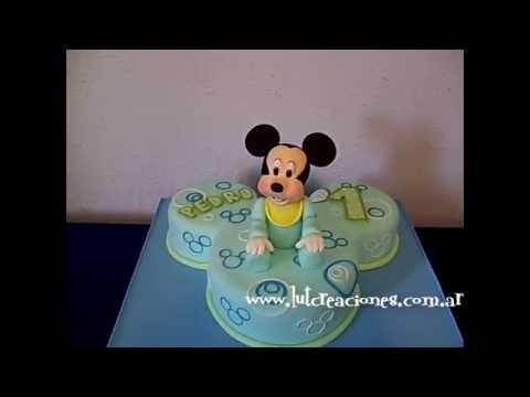Torta Decorada Mickey Bebé - Lut Creaciones Tortas Decoradas
