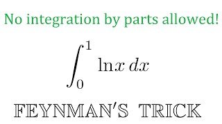 Gambar cover Integral of ln(x) with Feynman's trick!