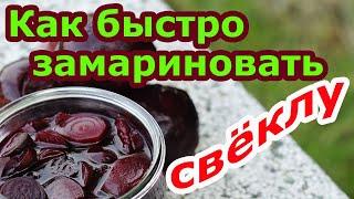 Маринованная свёкла | Рецепт для быстрого приготовления из вареной свеклы