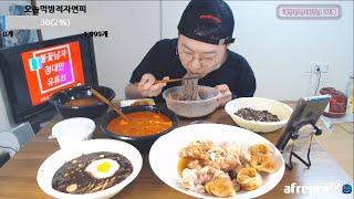 순두부짬뽕밥 + 장조림 메밀냉면 + 짜장 + 짬뽕 + …