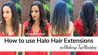 How to install a Halo hair extension