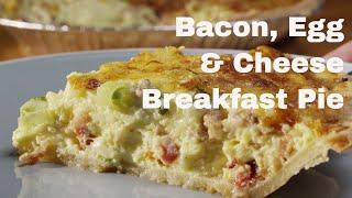 Bacon´n Cheddar Breakfast Pie - Recipe - Legourmettv
