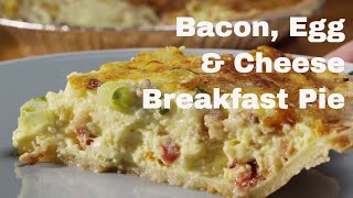 Baconn Cheddar Breakfast Pie - Recipe