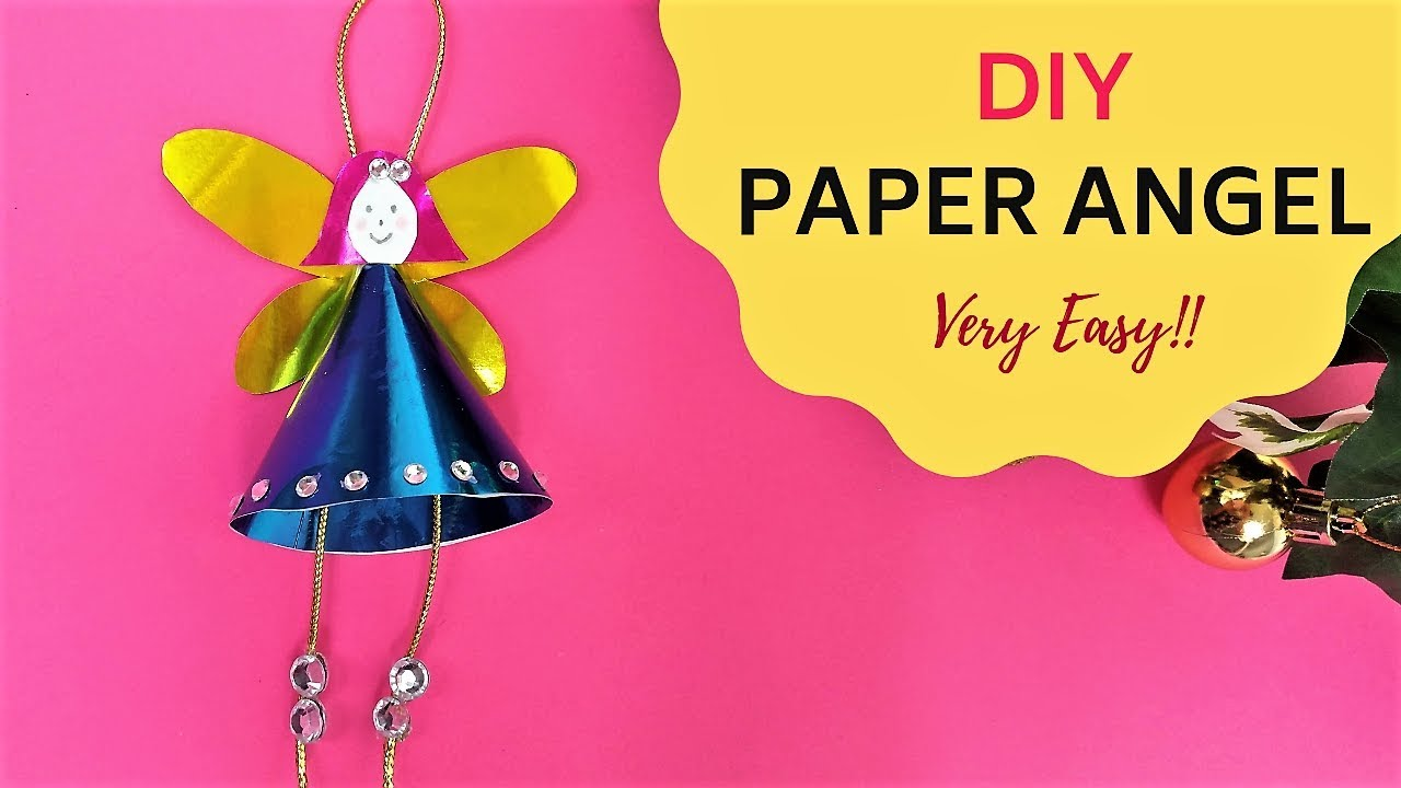 How To Make A Paper Angel~easy And Beautiful DIY Christmas