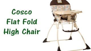 Cosco Flat Fold High Chair Review - Slim Fold - Walmart, Target