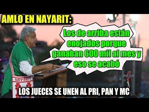 AMLO EN NAYARIT ¡HABLA DE ESOS QUE NO QUIEREN BAJARSE EL SUELDO!