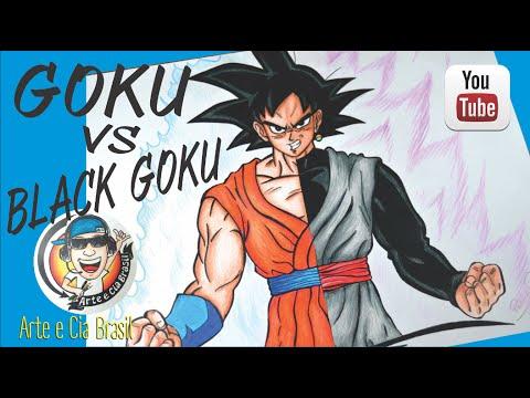 Goku vs Black Goku - Speed Drawing