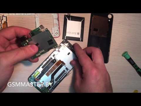 Замена стекла и экрана HTC 626G (Glass repair guide)