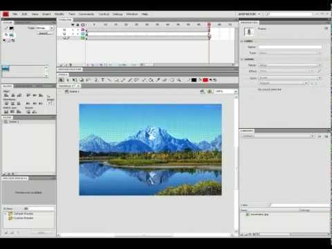 Flash CS4 Beginner's Tutorial: Creating a 3D effect in Flash