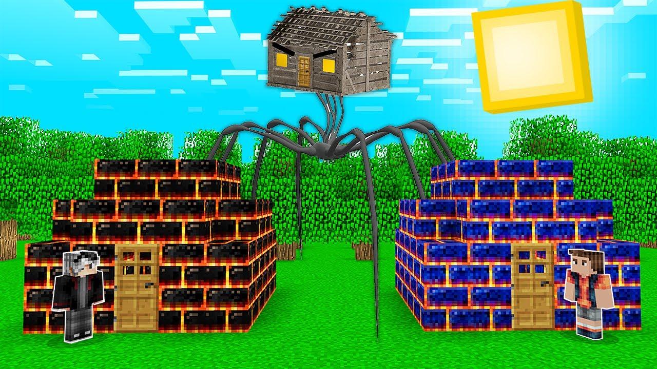 KORKUNÇ EV VS EV! 😱 - Minecraft