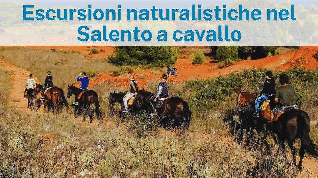 Escursione guidata a cavallo di Otranto Cave Bauxite e Baia delle Orte