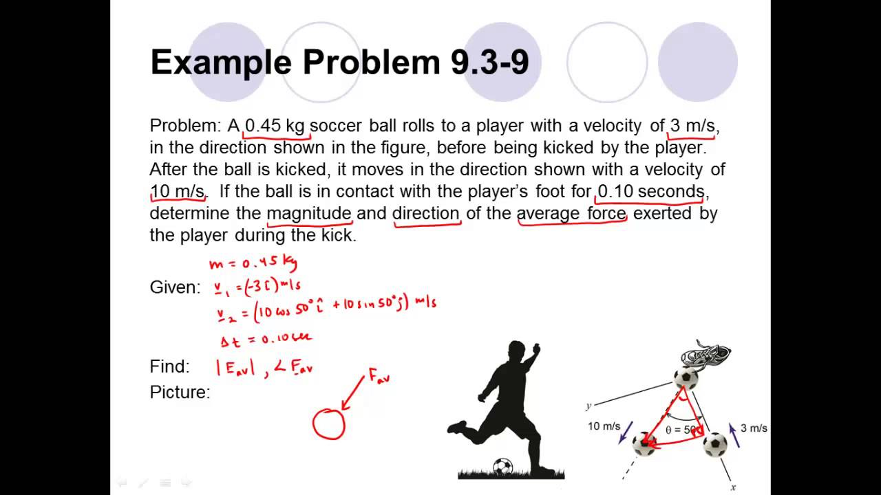 Conceptual Dynamics Example Problem 93 9 Particle Linear Impulse