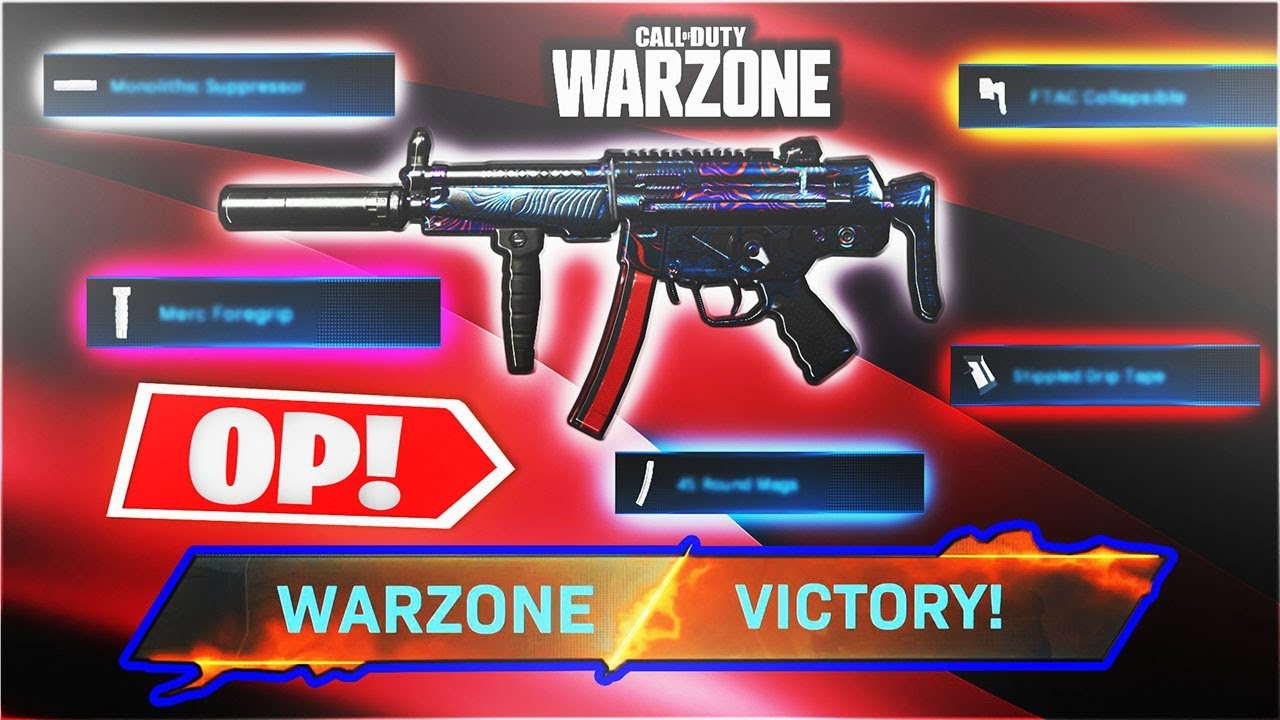 These Special Attachments Make The Mp5 Op On Warzone Best Warzone Loadouts Warzone Season 3 Youtube