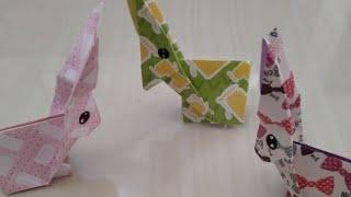 Cara membuat kelinci dari kertas origami