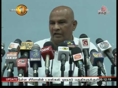 News 1st Prime time 8PM  Shakthi TV 13th May 2016
