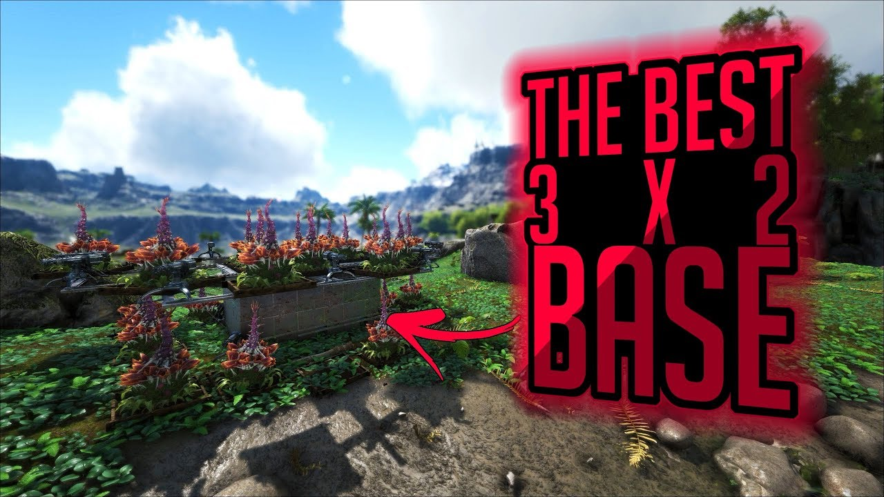 Amazing The Best 3x2 PvP Base Design In ARK: Survival Evolved