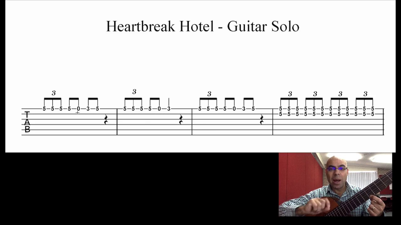 How To Play The Guitar Solo In Heartbreak Hotel Youtube