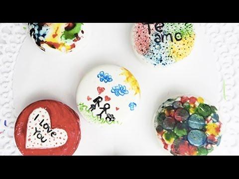 Galletas (Sin Hornear) con Dibujos para San Valentín - YouTube