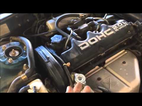 how to replace a timing belt on a mitsubishi eclipse (1989-1999) part 1 -  youtube