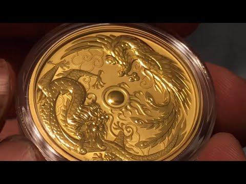 2018 Dragon & Phoenix 1 Oz Gold Coin Unpackaging